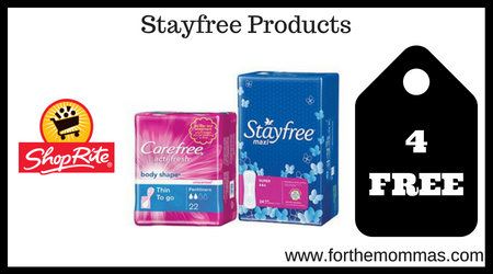 ShopRite: 4 FREE Stayfree Products Starting 9/2! - FTM