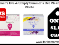 Summer's Eve & Simply Summer's Eve Cleansing Cloths