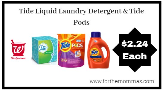 Walgreens: Tide Liquid Laundry Detergent & Tide Pods ONLY $2.24 Each Starting 8/26