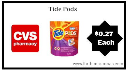 CVS: Tide Pods ONLY $0.27 each starting 8/12