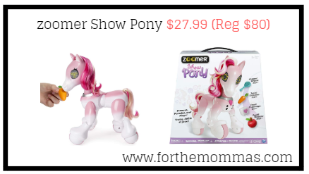 Amazon.com: zoomer Show Pony $27.99 (Reg $80)