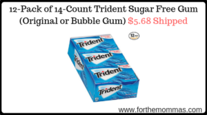 12-Pack of 14-Count Trident Sugar Free Gum