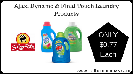 Ajax, Dynamo & Final Touch Laundry Products