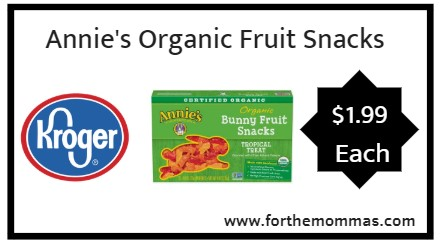 Kroger Mega Sale: Annie's Organic Fruit Snacks ONLY $1.99 (Reg $5.19)
