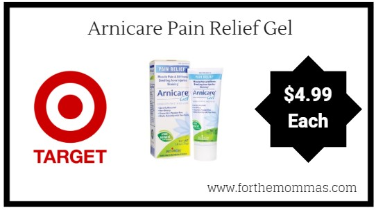 arget: Arnicare Pain Relief Gel $4.99 Each Starting 9/16