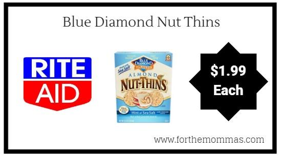 Rite Aid: Blue Diamond Nut Thins $1.99 Each Starting 9/16