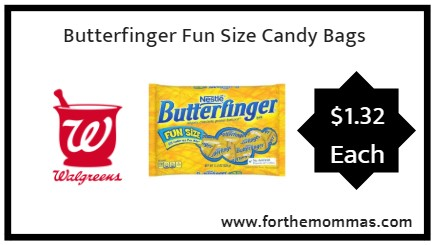 Walgreens: Butterfinger Fun Size Candy Bags ONLY $1.32 Each Starting 9/23