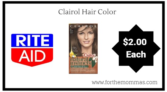 Rite Aid: Clairol Hair Color ONLY $2 Each Starting 9/9