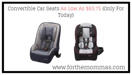 Convertible Car Seats As Low As $63.75 {Only For Today}