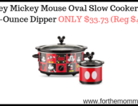 Disney Mickey Mouse Oval Slow Cooker with 20-Ounce Dipper