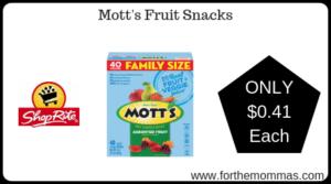 Mott's Fruit Snacks