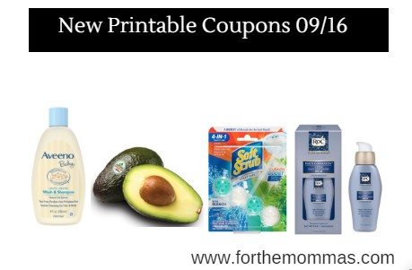 Newest Printable Coupons 09/16: Save On Aveeno, Avocados, Persil & More