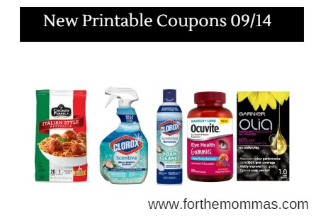 Newest Printable Coupons 09/14: Save On Cooked Perfect, Clorox, Ocuvite & More