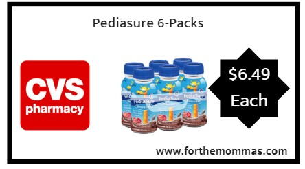 CVS: Pediasure 6-Packs Just $6.49 Each 9/23 ONLY! ($12.49 Regular Price)