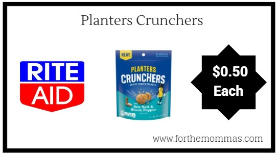 Rite Aid: Planters Crunchers ONLY $0.50 Each Starting 9/16