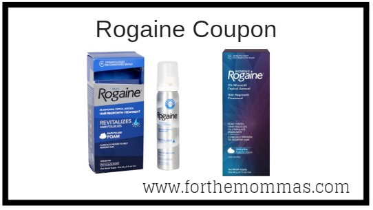 graphic about Rogaine Printable Coupon called Clean Rogaine Coupon Importance $5.00 - FTM