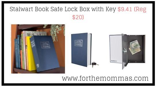 Stalwart Book Safe Lock Box with Key $9 41 (Reg $20) - FTM