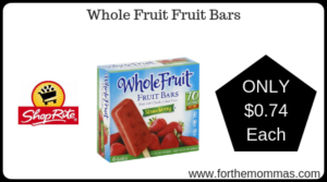 Whole Fruit Fruit Bars