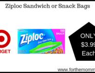 Ziploc Sandwich or Snack Bags