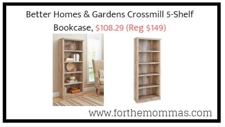 Better Homes Gardens Crossmill 5 Shelf Bookcase 10829 Reg 149