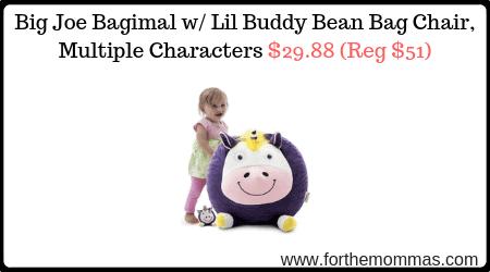 Big Joe Bagimal W Lil Buddy Bean Bag Chair Multiple