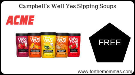 Acme: FREE Campbell's Well Yes Sipping Soups Starting 11/9!