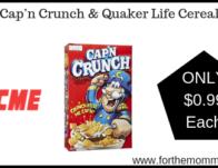 Cap'n Crunch & Quaker Life Cereal