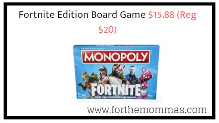 Monopoly Fortnite Edition Board Game 15 88 Reg 20 Ftm