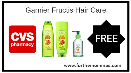 CVS: Free Garnier Fructis Hair Care Starting 1/13