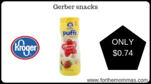 Gerber snacks