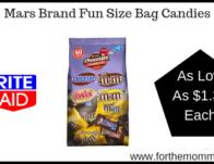 Mars Brand Fun Size Bag Candies