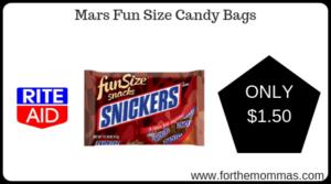 Mars Fun Size Candy Bags
