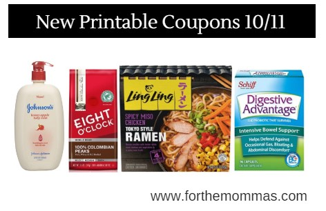 graphic about Printable Coffee Coupons called Printable Coupon Roundup 10/11: Conserve Upon Johnsons, 8 O