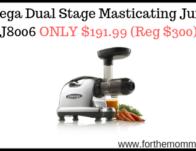 Omega Dual Stage Masticating Juicer