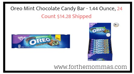 Oreo Mint Chocolate Candy Bar - 1.44 Ounce, 24 Count $14.28 Shipped