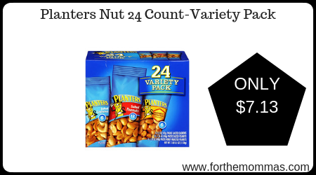Planters Nut 24 Count-Variety Pack ONLY $7.13 - FTM on planters honey roasted peanuts, planters peanuts variety, planters peanuts individually wrapped, blue diamond nuts pack, planters nutrition pack, planters heat peanuts, peanut planter pack,