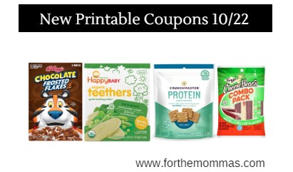 Newest Printable Coupons 10/22: Save On Crunchmaster, Hillshire, Kellogg's & More