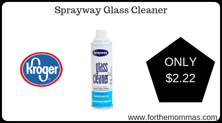 Kroger: Sprayway Glass Cleaner ONLY $2.22 {Reg $3.19} Ends Today!!