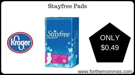 Kroger Mega Sale: Stayfree Pads ONLY $0 49 (Reg $2 99) - FTM