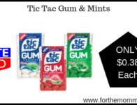 Tic Tac Gum & Mints
