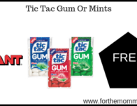 Tic Tac Gum Or Mints