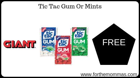 Tic Tac Gum Or Mints