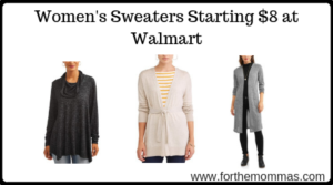 Women's Sweaters Starting $8 at Walmart