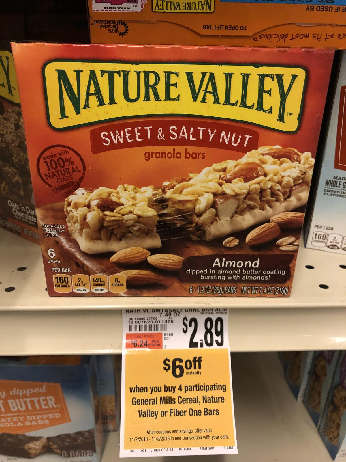 image about Nature Valley Printable Coupons identified as Large: Character Valley Granola Bars Accurately $0.89 Each and every Via 11/8