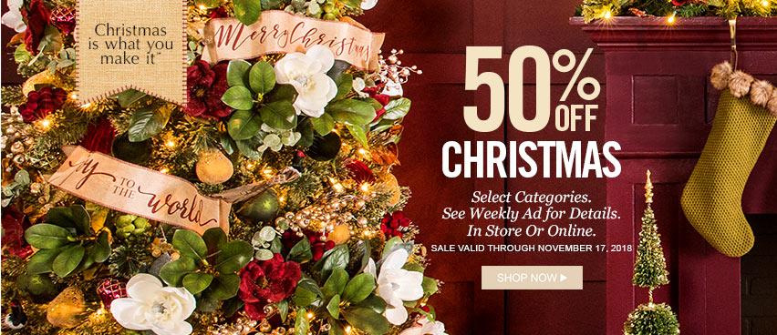 50 off hobby lobby on christmas decor
