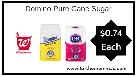 Walgreens: Domino Pure Cane & C&H Sugar As Low As $0.74 Starting 11/11