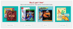 Board Games, Video Games, Movies & Kids Books