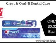 Crest & Oral-B Dental Care