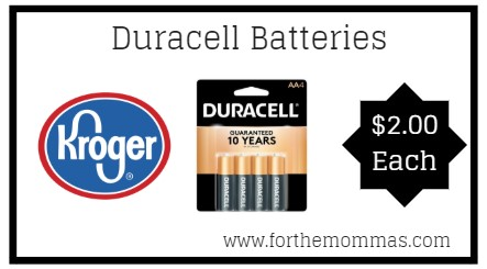 Buy Here Pay Here Ct >> Kroger: Duracell Batteries ONLY $2.00 {Reg $4.99} - FTM