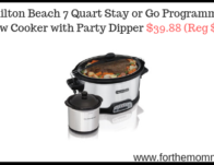 Hamilton Beach 7 Quart Stay or Go Programmable Slow Cooker